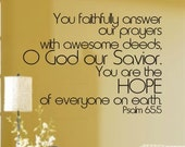 HOPE Ps. 65-5 Vinyl Wall Decal