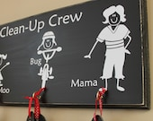 Stick Family Chore Chart - distressed wood sign (S-014)