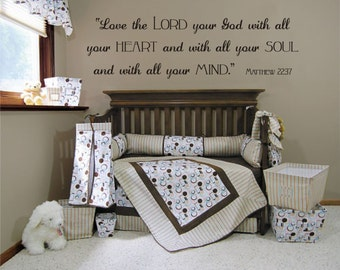Love the Lord Your God - Matthew 22: 37 Vinyl Wall Decal (B-014)