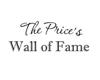 Hall of Fame Vinyl Wall Decal