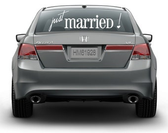 Just Married Vinyl Decal (W-068)