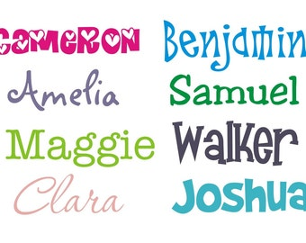 Child's Name - Sized for their Door - Vinyl Wall Decal (K-004)