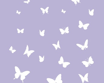 40 Butterflies to Make Butterfly Cascade Vinyl Wall Decal (K-055)