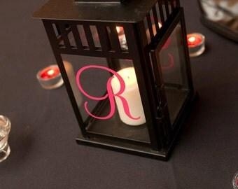 Monogram Initial for Lantern - wedding decor - photo prop - reception decor (W-067)