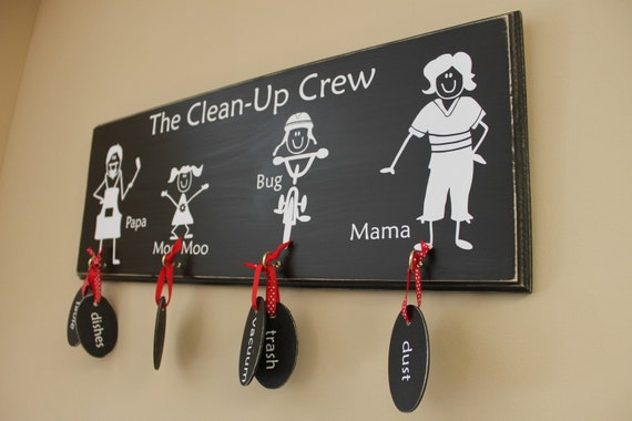 10 CHALKBOARD TAGS for Family Chore Chart (S-014tag)