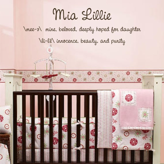 Name and Definition - customize - Vinyl Wall Decal