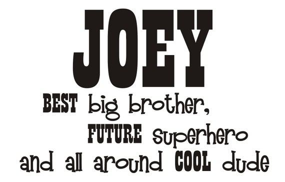 best big brother and future super hero Vinyl Wall Decal with NAME (k-033)