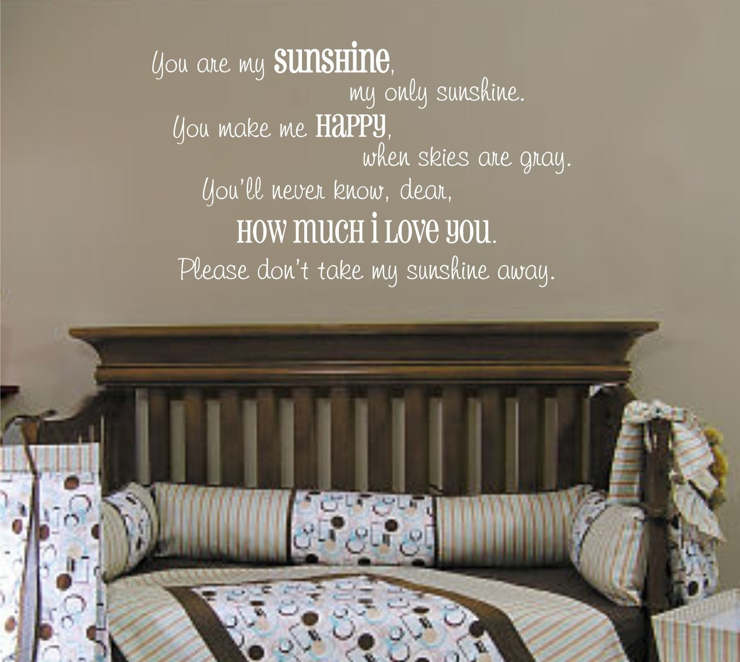 ... You are my sunshine vinyl wall decal (k-030). 🔎zoom