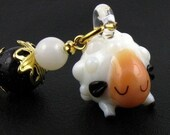Crochet Stitch Marker - Darling Sheep - Removable Stitch Marker - Handmade - Achievement Marker - Zipper Pull - Pendant - Charm
