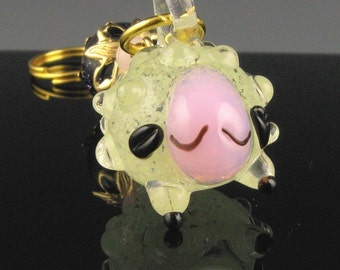 Knit Stitch Marker - Lulu The Sheep - Handmade - Knitting - Crochet - Removable Marker - Pendant - Row Counter - Glow in the dark - Charm