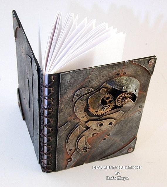 Steampunk Notebook Metal Rust 2