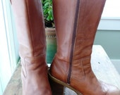 Bongo Tall Leather Boots Size 6 1/2 M