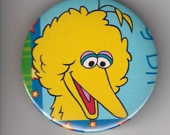 Cute Big Bird of Sesame Street, Pinback Button, 2 1/4 inch