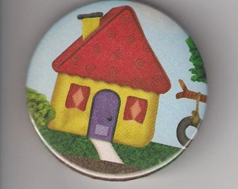 Blue's Clues House Home, Pinback Button 2 1/4 inch