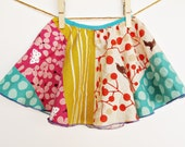 Girl's Skirt - Twirly Circle Skirt  - Colorful with mixed prints -  For Toddler / Youth Girl  - by bitty bambu