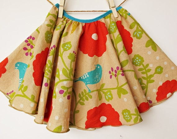 Madrigal Skirt  - Twirly Circle Skirt  - With Imported Japanese  Fabric - by bitty bambu