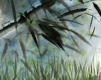 Do you see the moon in the bamboo - limited edition archival print