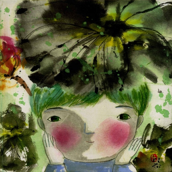 lotus on my head- limited edition archival print