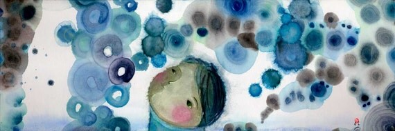 bubbles and i - limited edition archival print