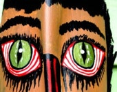 Tiki Decor Palm Tree Frond  Man Cave Art Wall Mask  Dude Buzzed Geekery OOAK