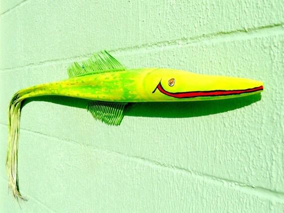 Palm Frond Fish... Frondastic Smiley ... 3 feet of Florida Fun ....