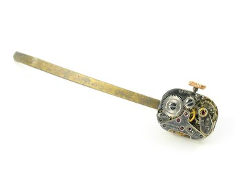 Steampunk Vintage Watch Bobby Pin