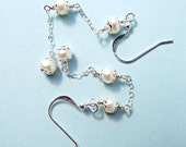 Pearl Earrings with Sterling Silver Chain