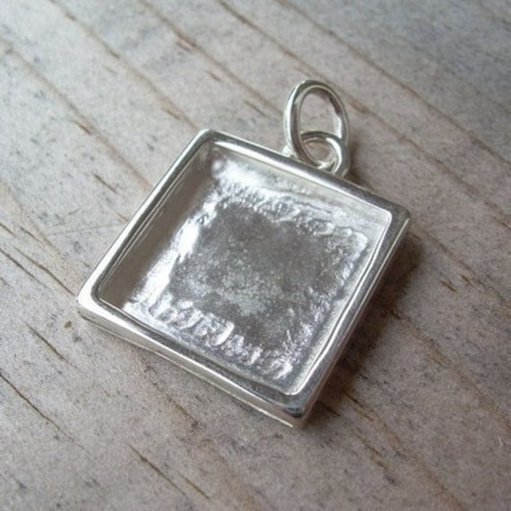 Sterling Silver Photo Charm - 16mm Square