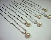 Single Pearl Hair Pin for 6 pins Bridal Formal Prom Wedding Hair Accessory