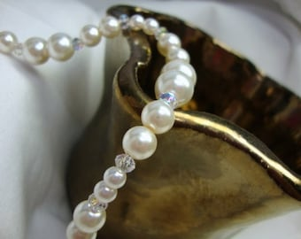 Beloved Pearl and Crystal Bracelet