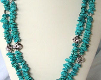 Multiple Strand, Double Dose of Turquoise
