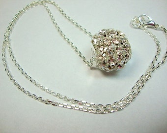 Simple Crystal Bling Necklace