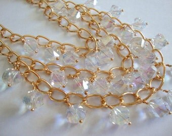 Bling Crystal and Gold Necklace