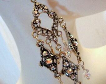 Royal Princess Earrings Formal Occasion Bridal Wedding Jewelry