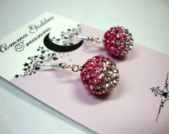 Rose Pink Crystal Earrings