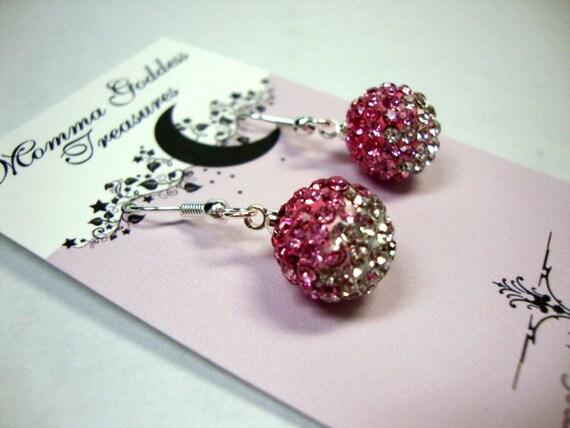 Rose Pink Crystal Earrings
