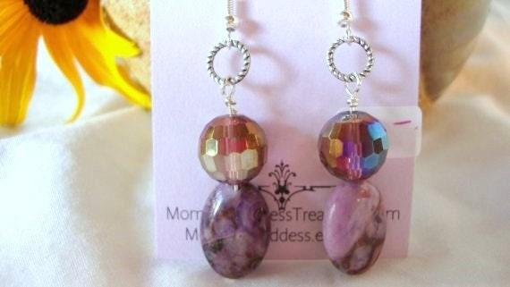 Purple Elegance Amethyst Earrings