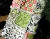 Rag Quilt, Crib, Baby Bedding, girl, Secret Garden, 100% cotton, baby rag quilt blanket - MADE TO ORDER - Last One