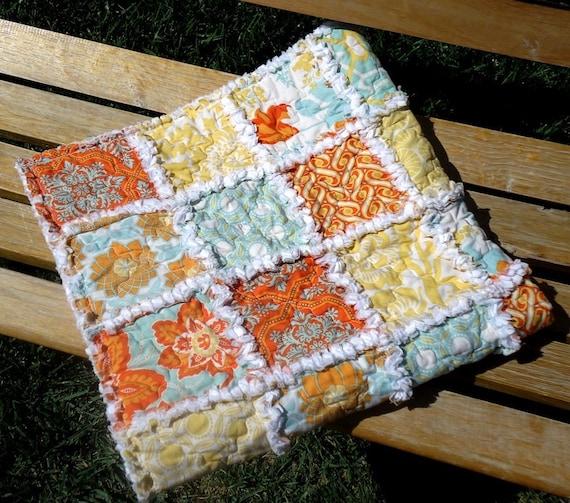Baby Rag Quilt, Heirloom, boy/girl, 100% cotton, baby blanket