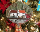 Custom Painted House or photo ornament