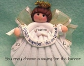 Shell Angel Personalized Ornament Christmas