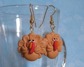 Funny Turkey Earrings for Thanksgiving