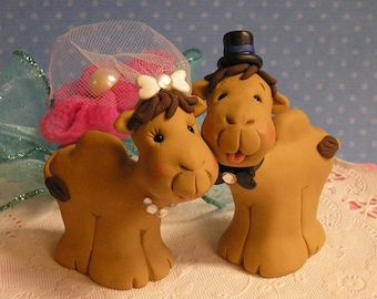 Cute Camel Wedding Cake Toppers