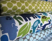 Baby bedding for boys Modern ZOO in 2D POOL  includes fitted sheet, bumper set and crib skirt