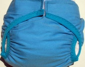 Waterproof PUL Diaper cover Ocean Blue soft brushed Cotton size Medium