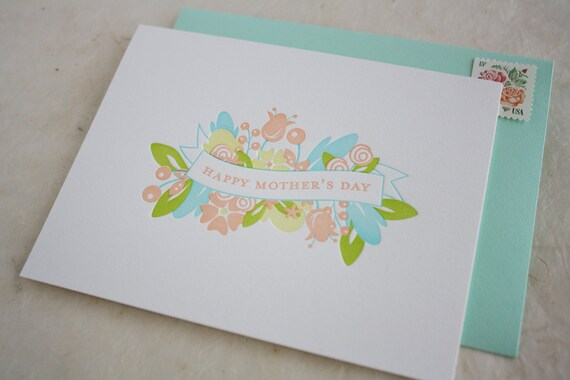 Mother's Day Card - Letterpress Mother's Day Banner