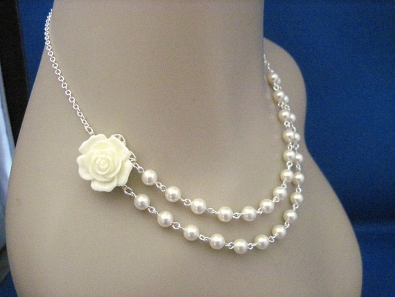 Bridesmaid Jewelry Choose Your Colors Double Strand Necklace
