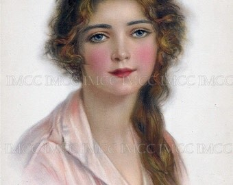 8 x 10 Vintage Chic Victorian Shabby Woman - Lady Digital Download Scan U Print ECS Item VW002