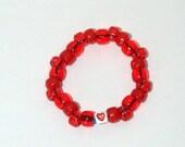 Red Hots Heart candy bracelet