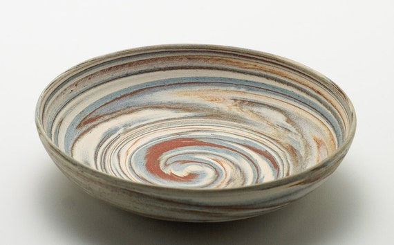 Swirly Blended Clay Bowl